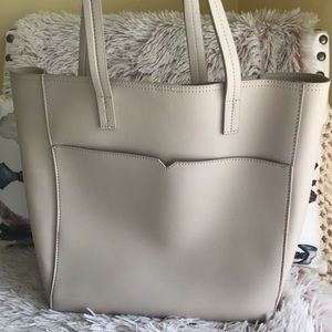 Old Navy cream tote bag faux leather